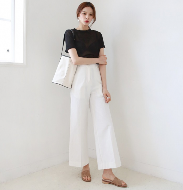[DLM]Wide fit pure pants