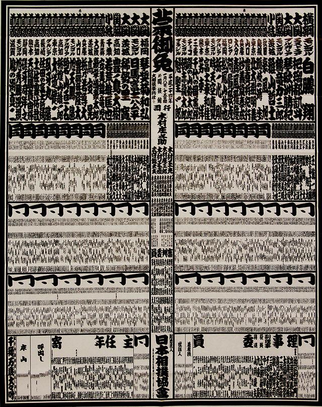 相撲番付表