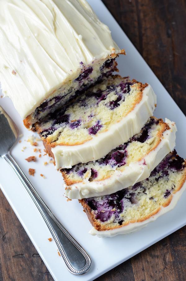 ブルーベリーライムクリームチーズパウンドケーキ
