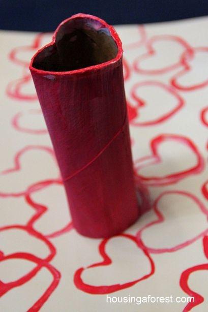 ハートの包装紙