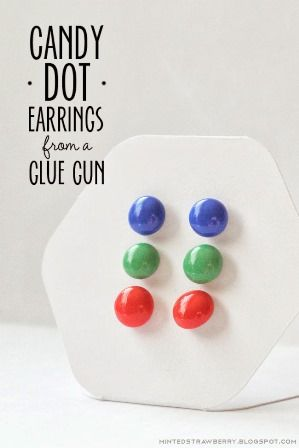 Glue Gun Beads and Earrings