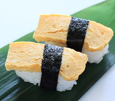 23363562 - japanese food, tamago sushi