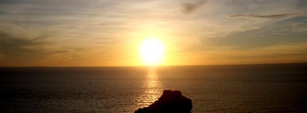 石垣島御神崎灯台からの夕日
