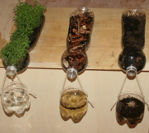 土壌侵食の実験
