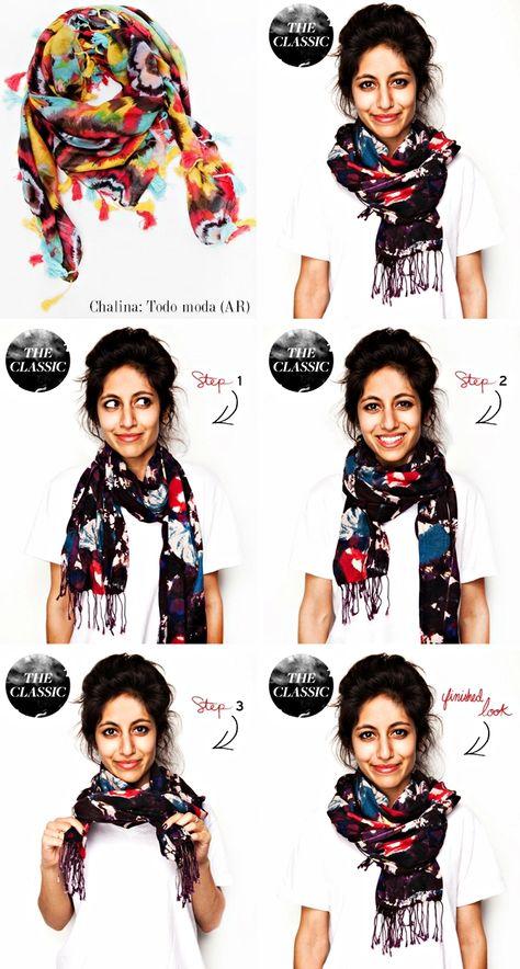 スカーフ巻き方2