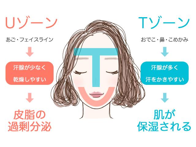 ①汗腺が少なく、乾燥しやすい箇所であるため