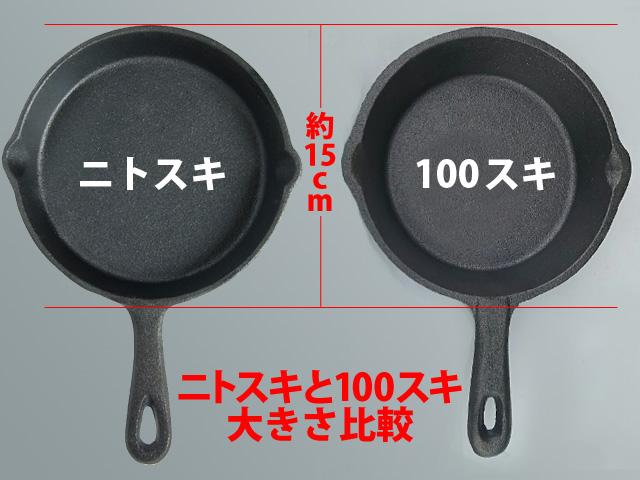ニトスキと100スキの大きさ比較