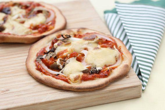 きのこのミニピザ
