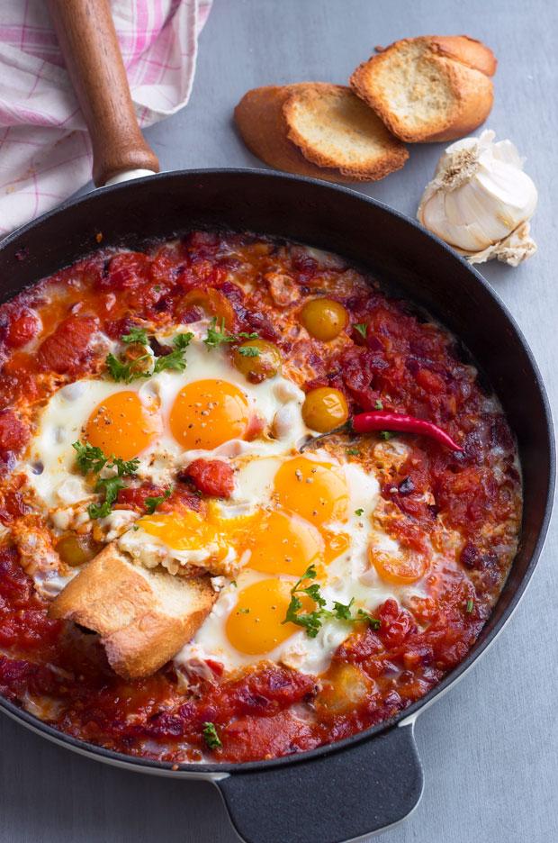 卵とトマトのブレックファースト