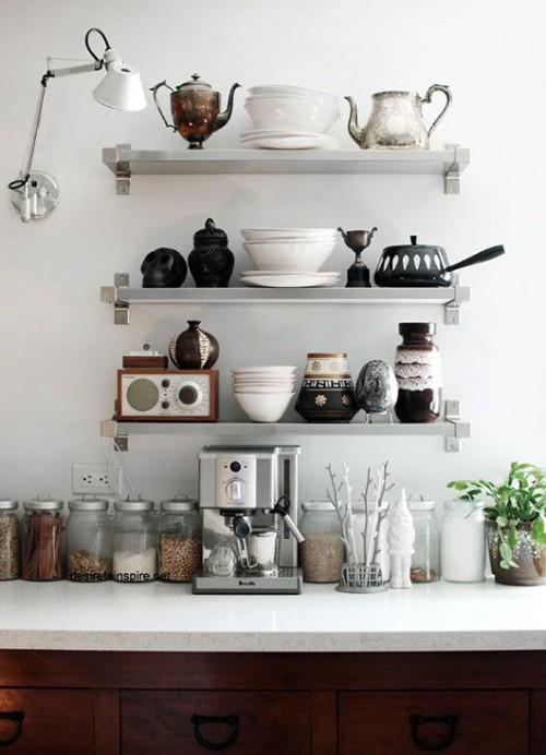 お洒落なキッチン 見せる収納