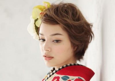 着物髪型 ショート10