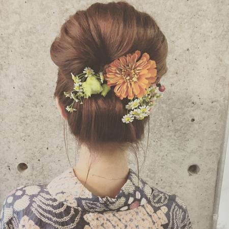 着物髪型 ロング19