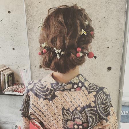 着物髪型 ロング18