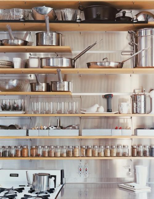 お洒落なキッチン 実用性を考えた配置