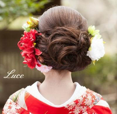 着物髪型 ロング3