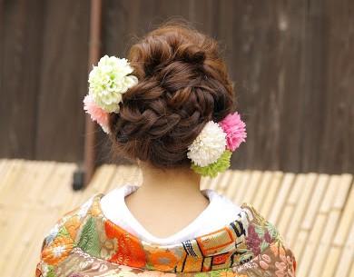 着物髪型 ロング14