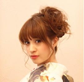 着物髪型 ロング26