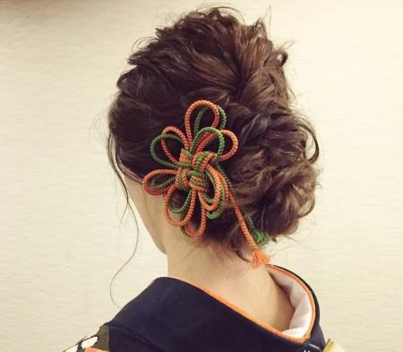 着物髪型 ロング16