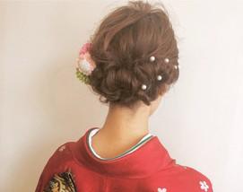 着物髪型 ロング25