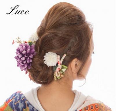 着物髪型 ロング1