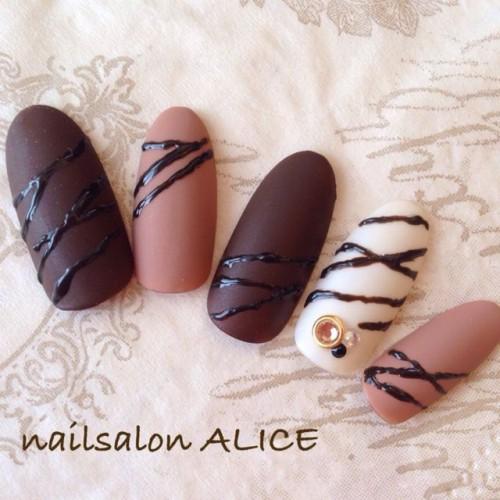 チョコレートネイル7