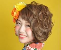 着物髪型 ショート13