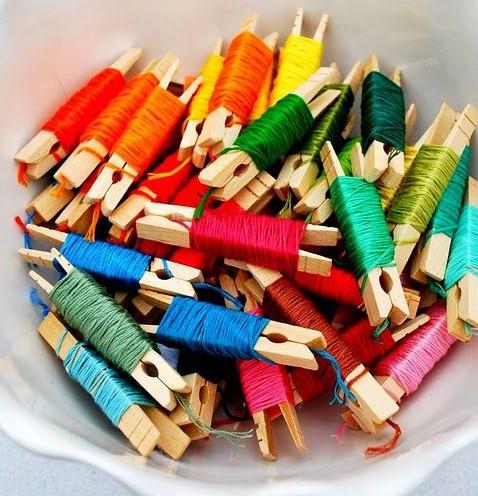 刺繍糸 クリップ 収納
