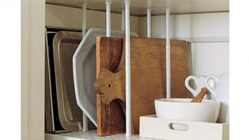 つっぱり棒 食器棚 収納