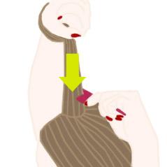 逆毛作り方3