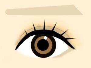 ぱっちり可愛らしい目