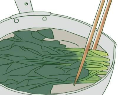 緑黄色野菜茹で方