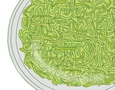 野菜の千切りは一度水に浸す