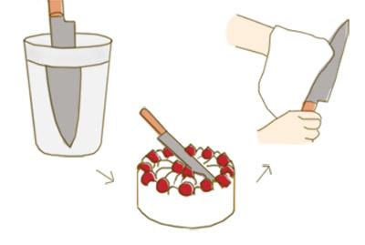 ケーキを綺麗にカットする方法