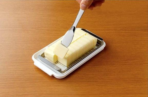ステンレスバターカッター&ケース バターナイフ付 2