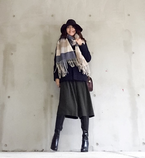【秋冬】ガウチョパンツコーデ6