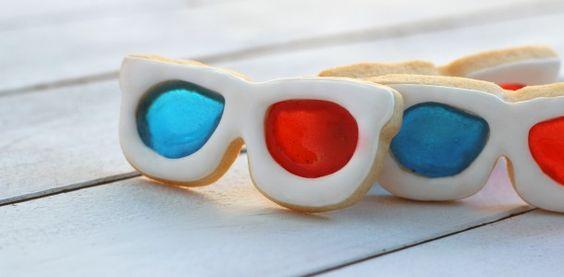 3Dサングラスモチーフ