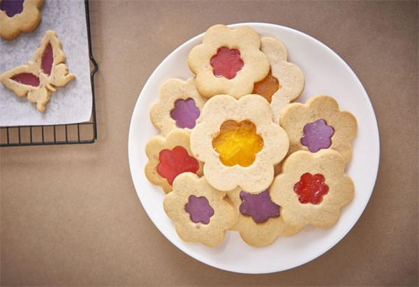 フラワーモチーフ ステンドグラスクッキー