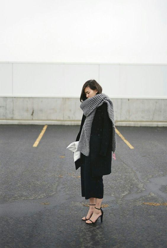 【秋冬】ガウチョパンツコーデ14