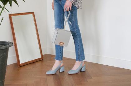 [DLM]Chunky middle heel sling back