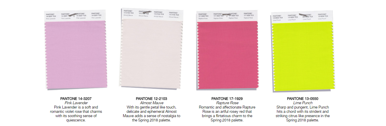 PANTONE-Spring 2018 London Top 12 color